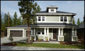 Bend Oregon West Side New homes Skylight Homebuilders Shevlin Pines foursquare design
