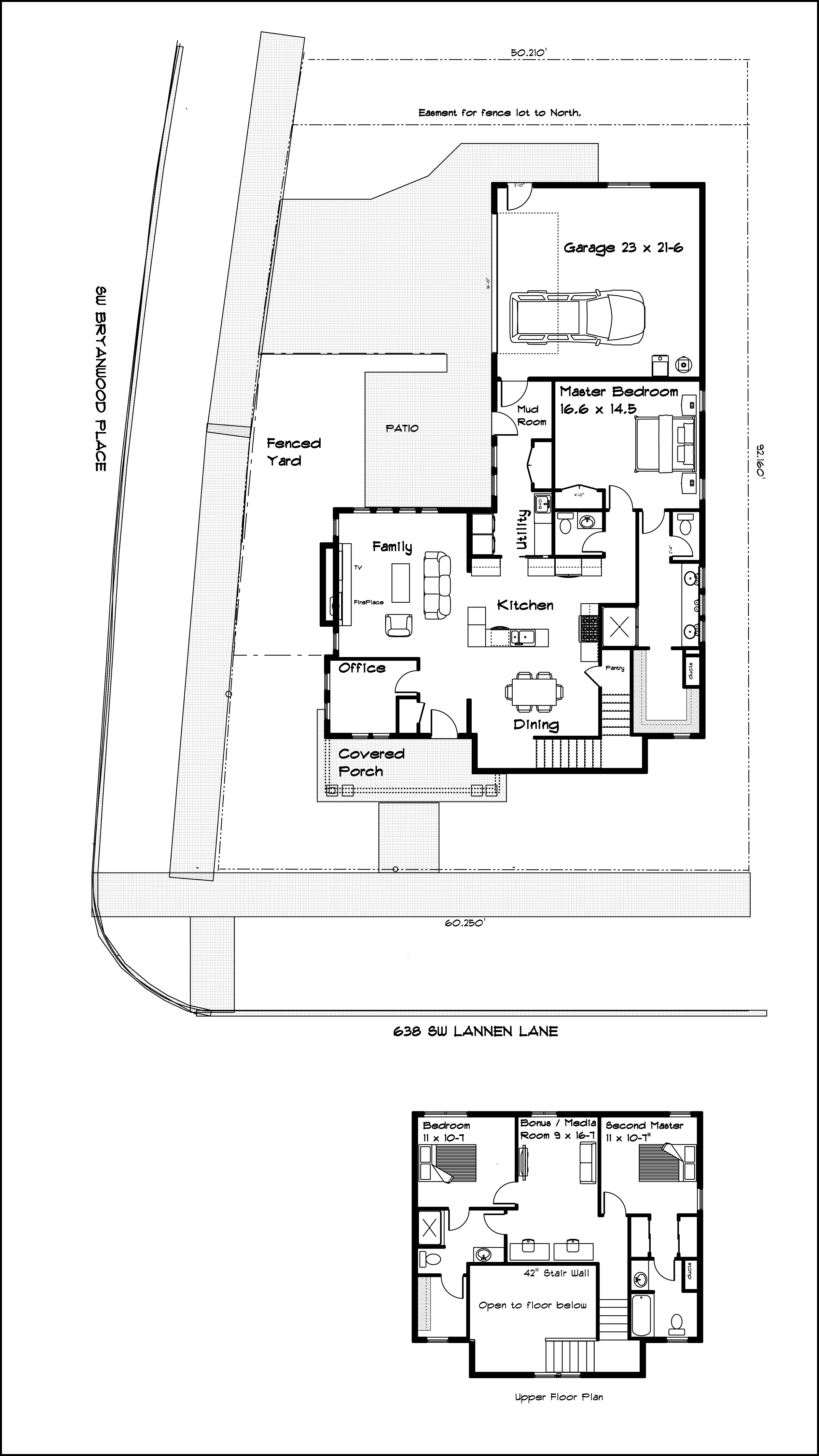BrooksMill Lot 8 Lower and upper Floor plan with border 8.20.2016
