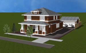 BrooksMill lot 7 front elevation rendered 4.15.2017