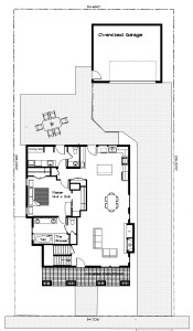 BrooksMill lot7 floor plan and site no landscape or border
