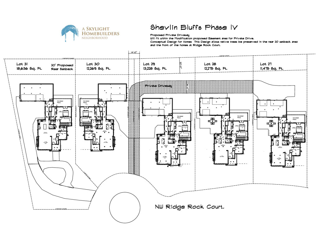 Phase IV private drive and home layout